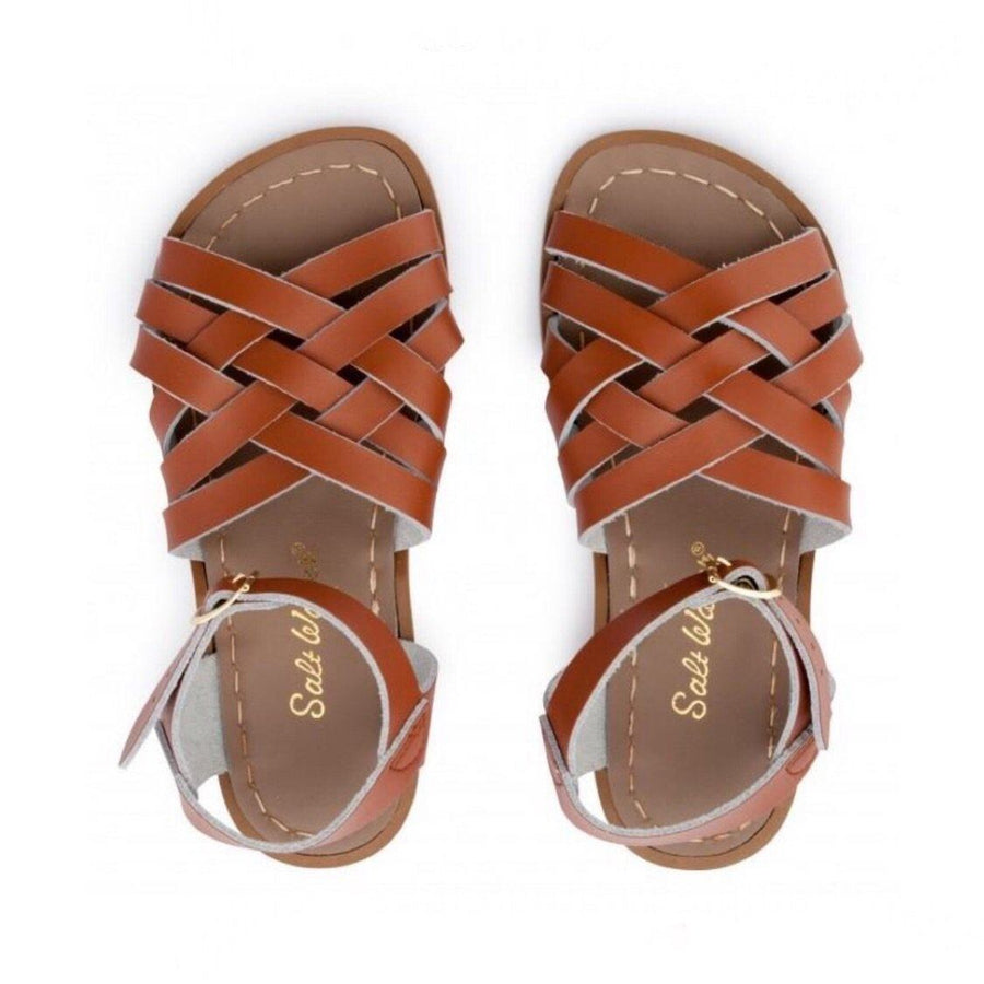 Adult Retro Saltwater Sandals - Tan Sandals Salt Water Sandals