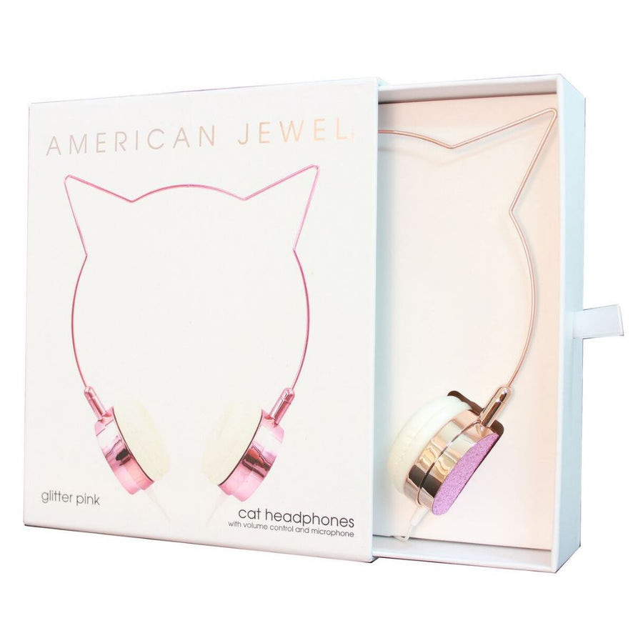 American Jewel - Rose Gold Cat Headphones Headphones American Jewel