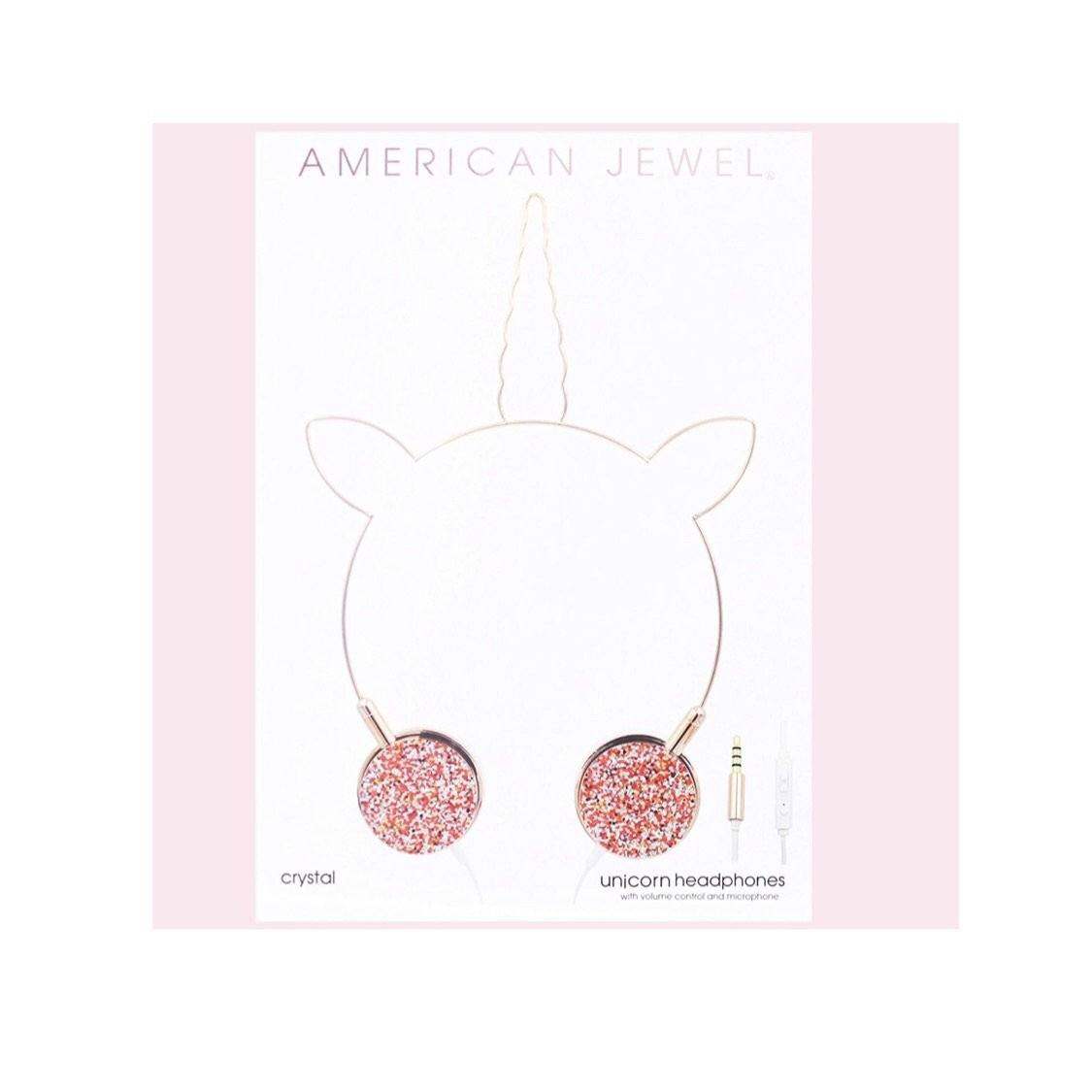 American Jewel - Rose Gold Unicorn Headphones Headphones American Jewel