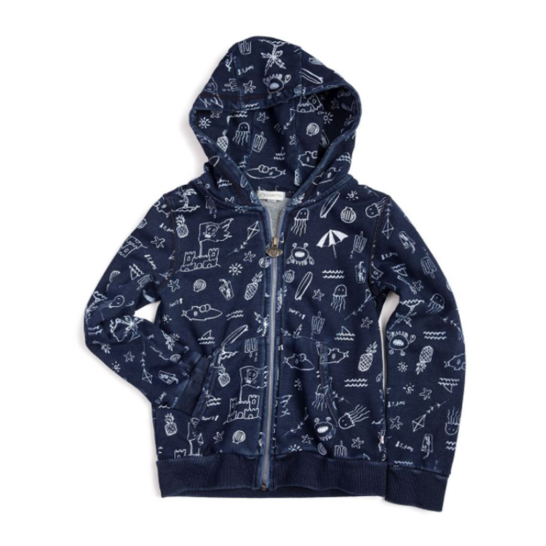 Appaman - Downtown Hoodie- Indigo Sweatshirt Appaman