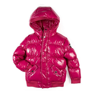 Appaman - Girls Sparkle Fuscia Puffy Coat Outerwear Appaman