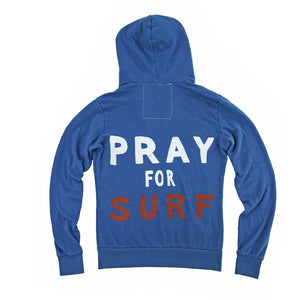 Aviator Nation - Adult Royal Blue Pray for Surf Zip Hoodie Sweatshirt Aviator Nation