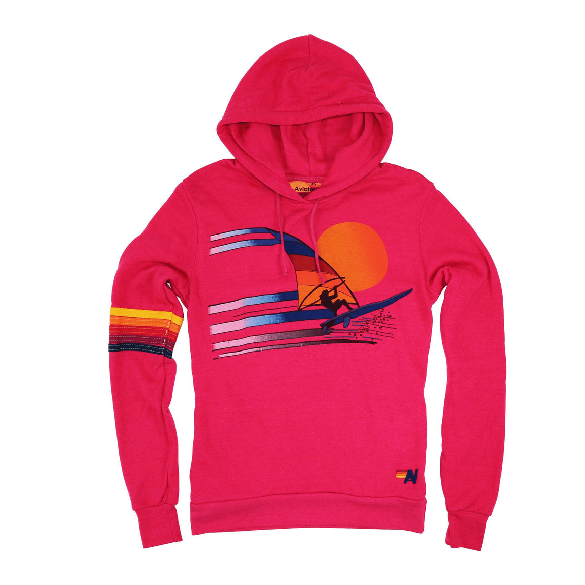 Aviator Nation - Adult Windsurf Jump Pullover Hoodie - Rose Sweatshirt Aviator Nation
