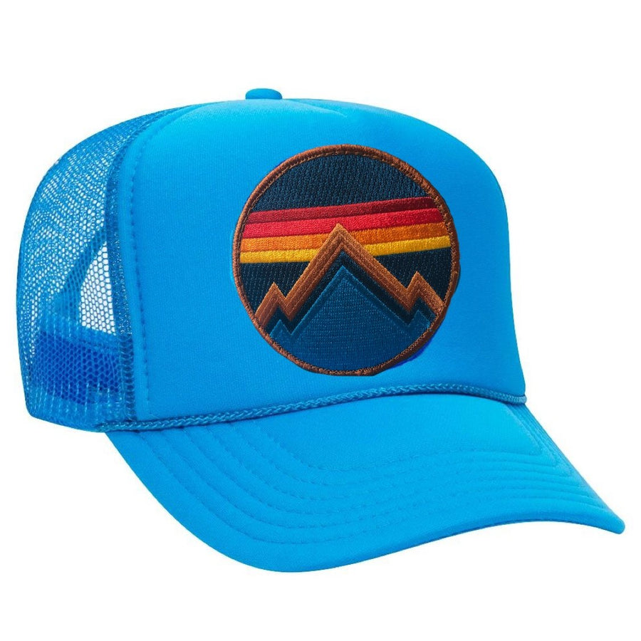 Aviator Nation - All Seasons Circle Light Blue Adult Vintage Trucker Hat hat Aviator Nation