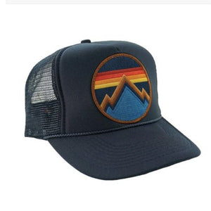 Aviator Nation - All Seasons Circle Navy Kids Vintage Trucker Hat hat Aviator Nation