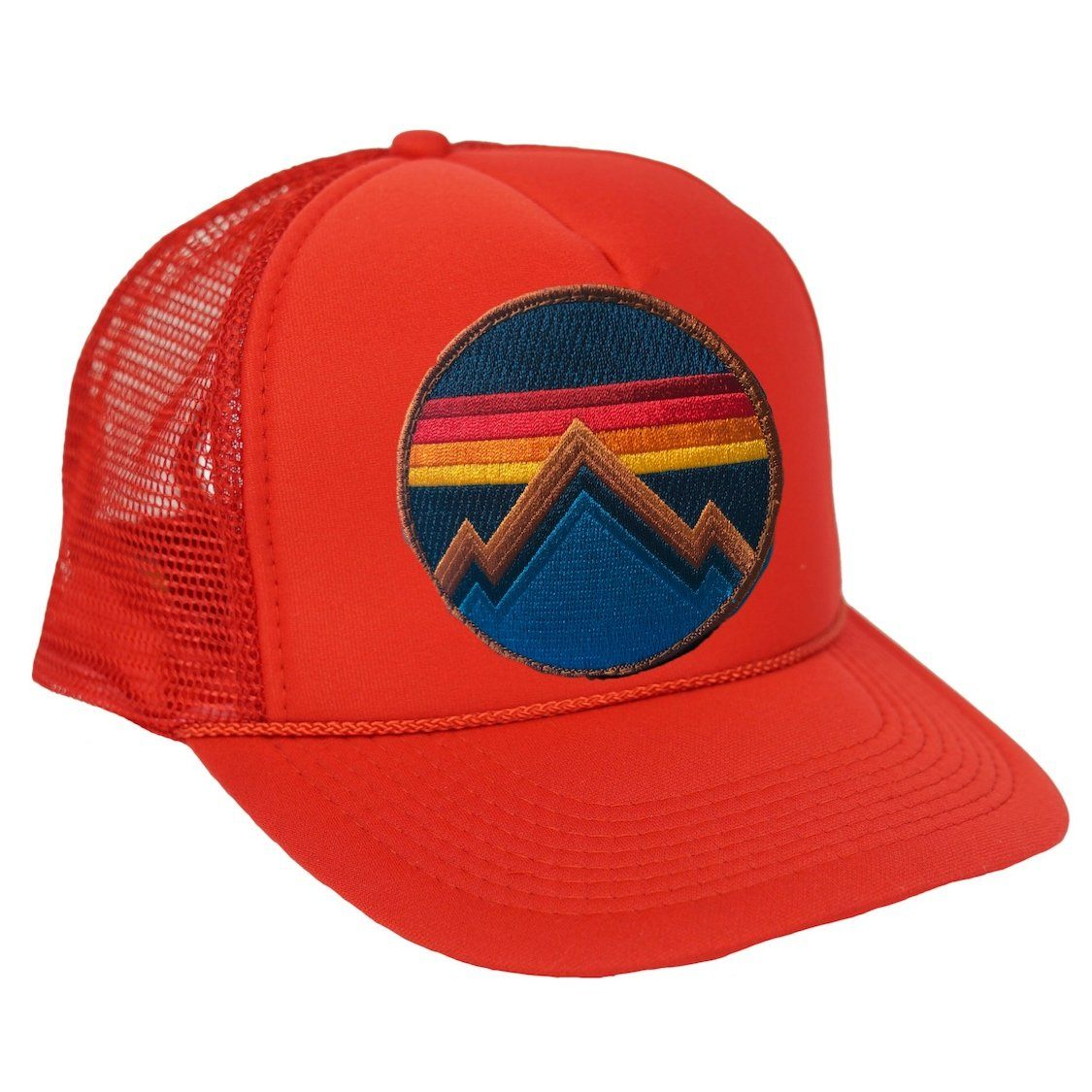 Aviator Nation - All Seasons Circle Red Adult Vintage Trucker Hat hat Aviator Nation