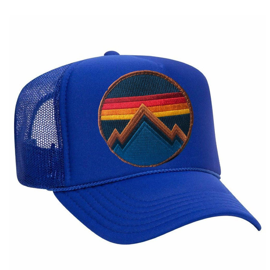 Aviator Nation - All Seasons Circle Royal Blue Adult Vintage Trucker Hat hat Aviator Nation