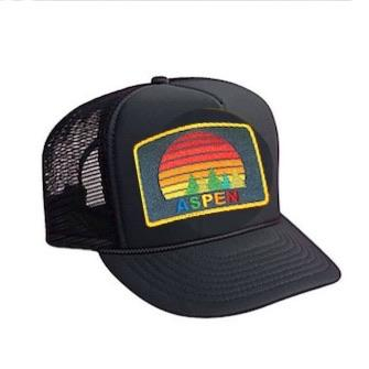 Aviator Nation - Black Aspen Sunset Kids Vintage Trucker Hat hat Aviator Nation