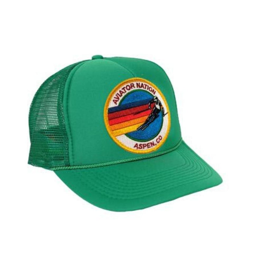 Aviator Nation - Kelly Green Aspen Kids Vintage Trucker Hat hat Aviator Nation