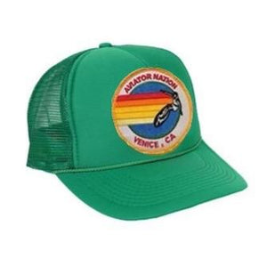 Aviator Nation - Kelly Green Signature Venice Kids Vintage Trucker Hat hat Aviator Nation