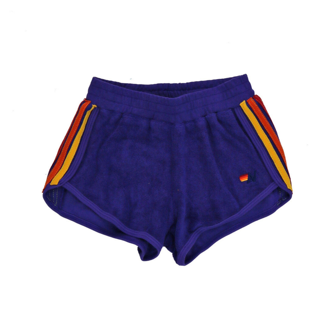 Aviator Nation - Kids 4 Stripe Jogger Shorts - Parachute Purple Shorts Aviator Nation