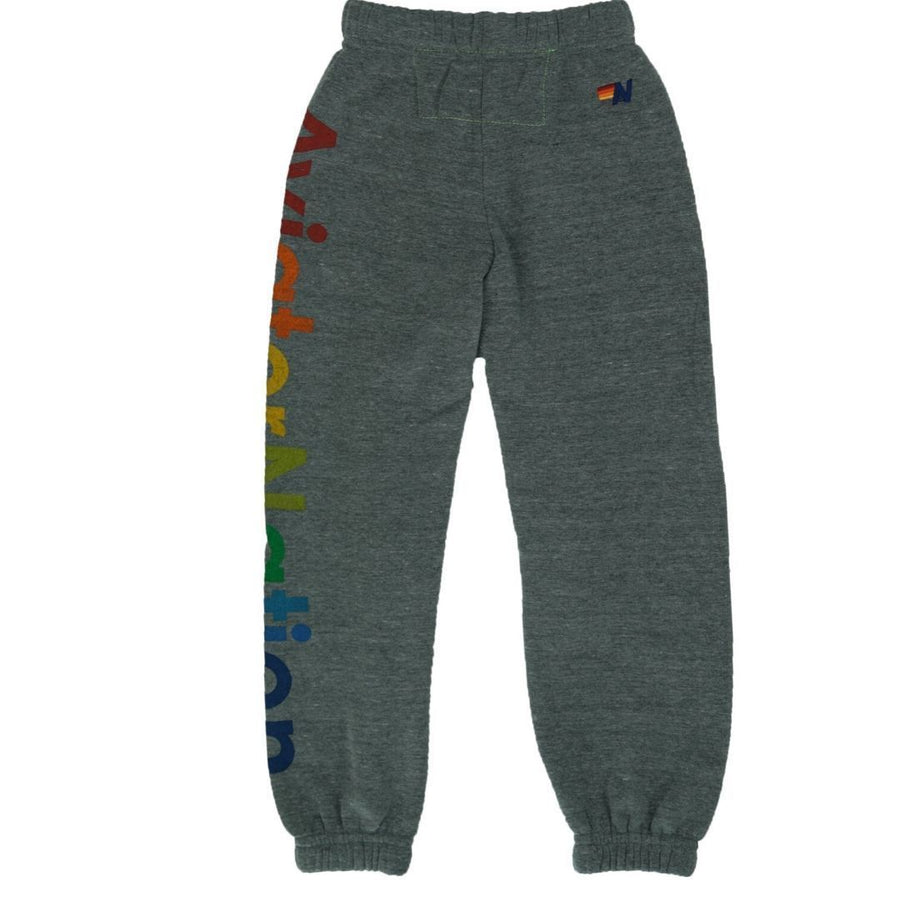 Aviator Nation - Kid's Aspen Sweatpants - Heather Grey Pants Aviator Nation