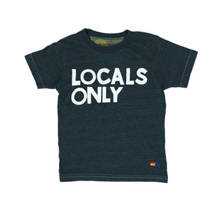 Aviator Nation - Kid's Charcoal Locals Only Tee Short Sleeve Shirts Aviator Nation
