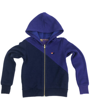 Aviator Nation - Kid's Glider Zip Hoodie - Parachute Purple / Poseiden Sweatshirt Aviator Nation