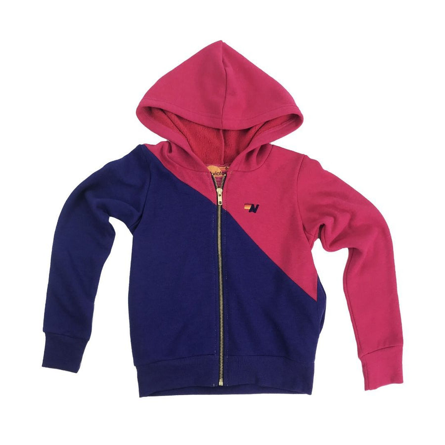 Aviator Nation - Kid's Glider Zip Hoodie - Rose / Parachute Purple Sweatshirt Aviator Nation