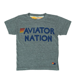Aviator Nation - Kid's Heather Grey Tee Short Sleeve Shirts Aviator Nation