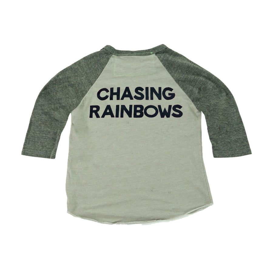 Aviator Nation - Kid's Mountain Rainbow Baseball Tee - Vintage Charcoal Short Sleeve Shirts Aviator Nation