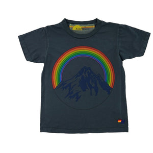 Aviator Nation - Kid's Mountain Rainbow Tee- Coal Short Sleeve Shirts Aviator Nation