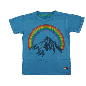 Aviator Nation - Kid's Mountain Rainbow Tee- Vintage Carribean Short Sleeve Shirts Aviator Nation
