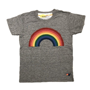 Aviator Nation - Kid's Rainbow Tee - Heather Grey Short Sleeve Shirts Aviator Nation