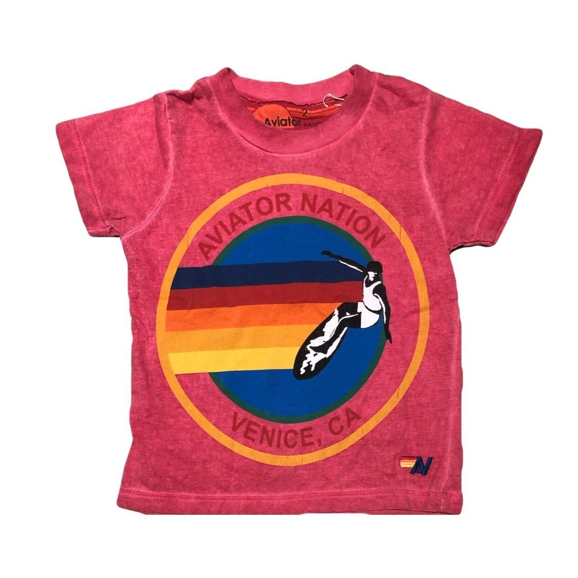 Aviator Nation - Kid's Vintage Red Venice Tee Short Sleeve Shirts Aviator Nation
