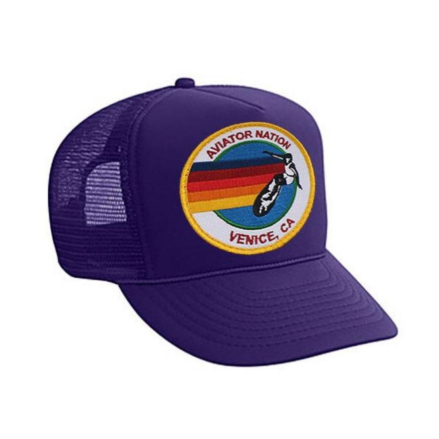 Aviator Nation - Purple Signature Kids Vintage Venice Trucker Hat hat Aviator Nation
