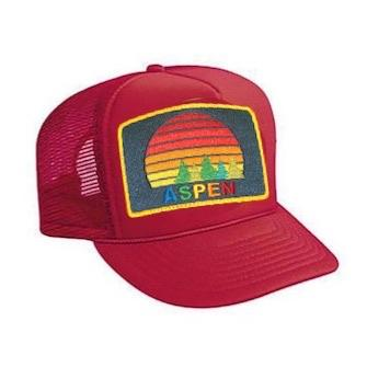 Aviator Nation - Red Aspen Sunset Kids Vintage Trucker Hat hat Aviator Nation