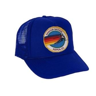 Aviator Nation - Royal Blue Aspen Kids Vintage Trucker Hat hat Aviator Nation
