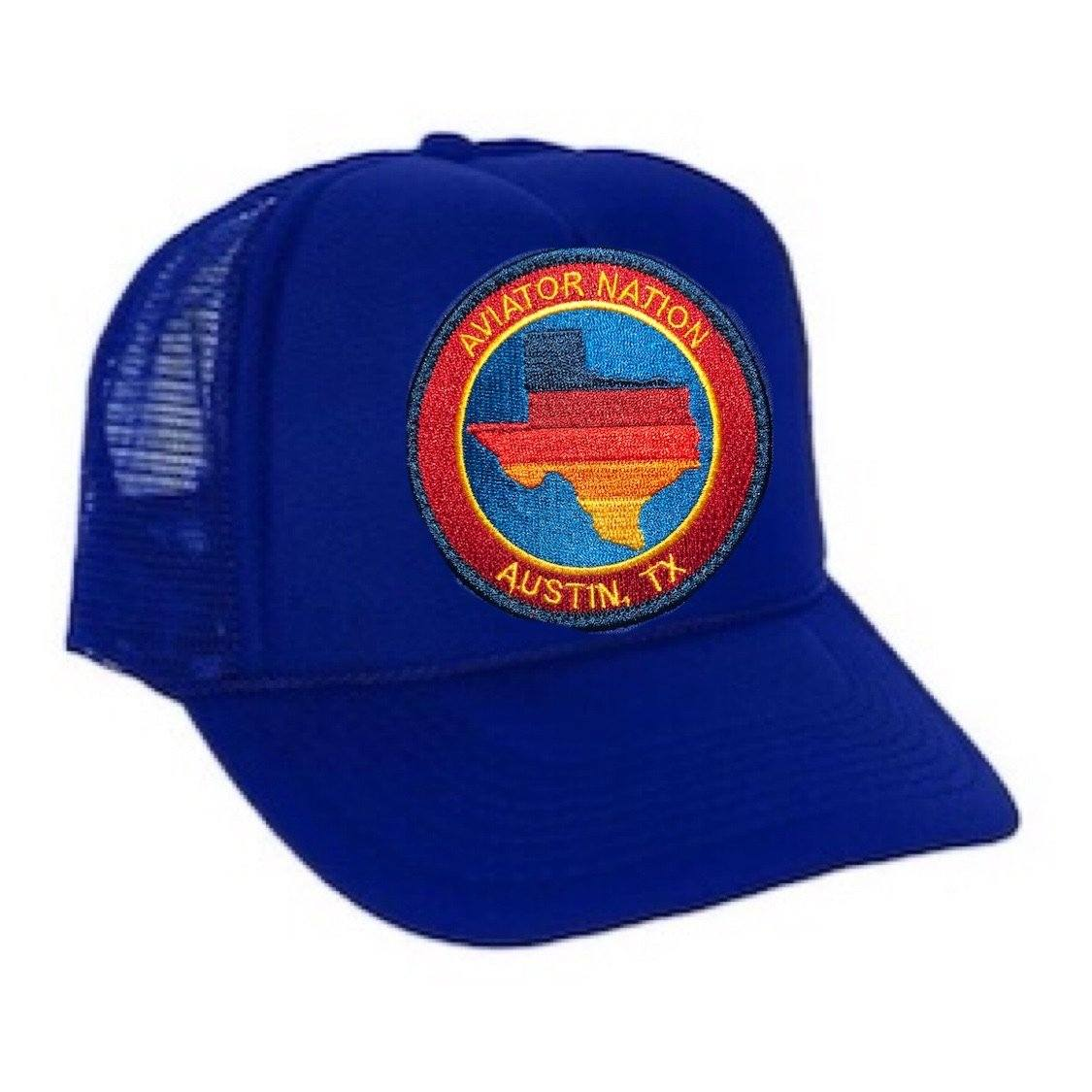 Aviator Nation - Royal Blue Austin Texas Kids Vintage Trucker Hat hat Aviator Nation