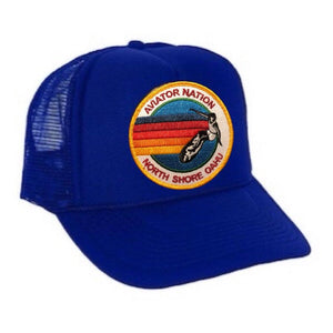 Aviator Nation - Royal Blue North Shore Oahu Kids Vintage Trucker Hat hat Aviator Nation