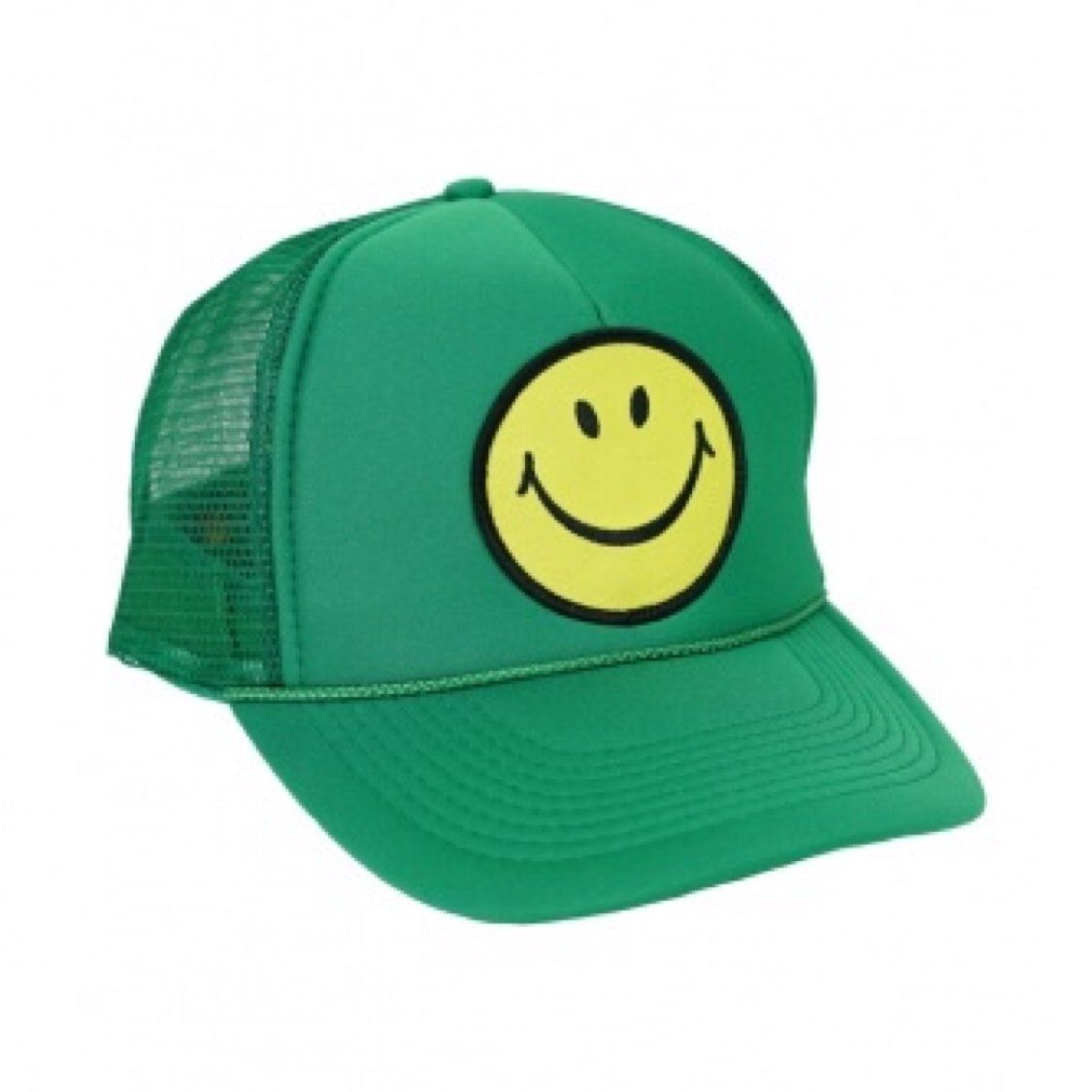 Aviator Nation - Smiley Green Kids Vintage Trucker Hat hat Aviator Nation