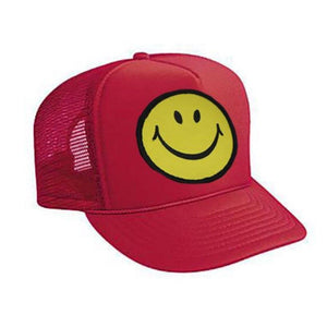 Aviator Nation - Smiley Red Kids Vintage Trucker Hat hat Aviator Nation