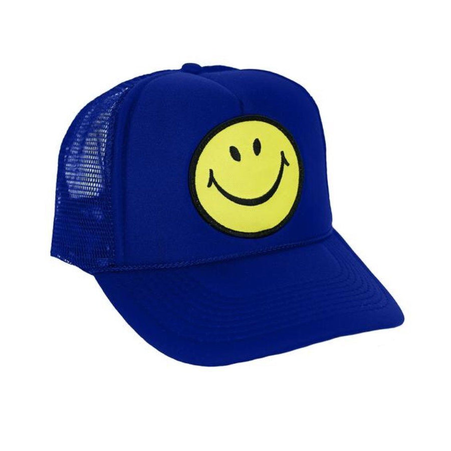 Aviator Nation - Smiley Royal Blue Kids Vintage Trucker Hat hat Aviator Nation