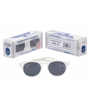 Babiators Key Hole Sunglasses - Wicked White Sunglasses Babiators