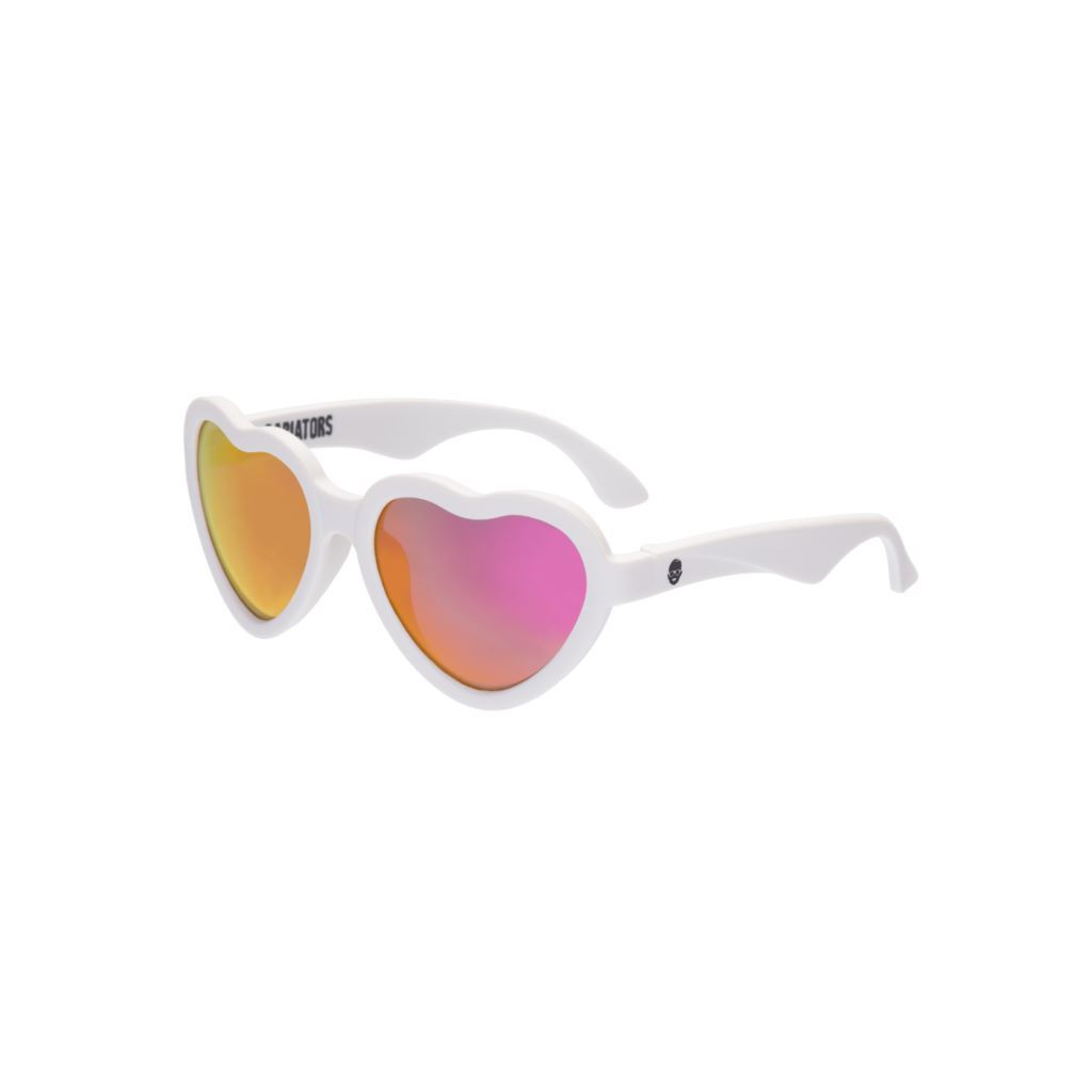 Babiators Sweetheart Sunglasses - Wicked White / Non Polarized Pink Sunglasses Babiators