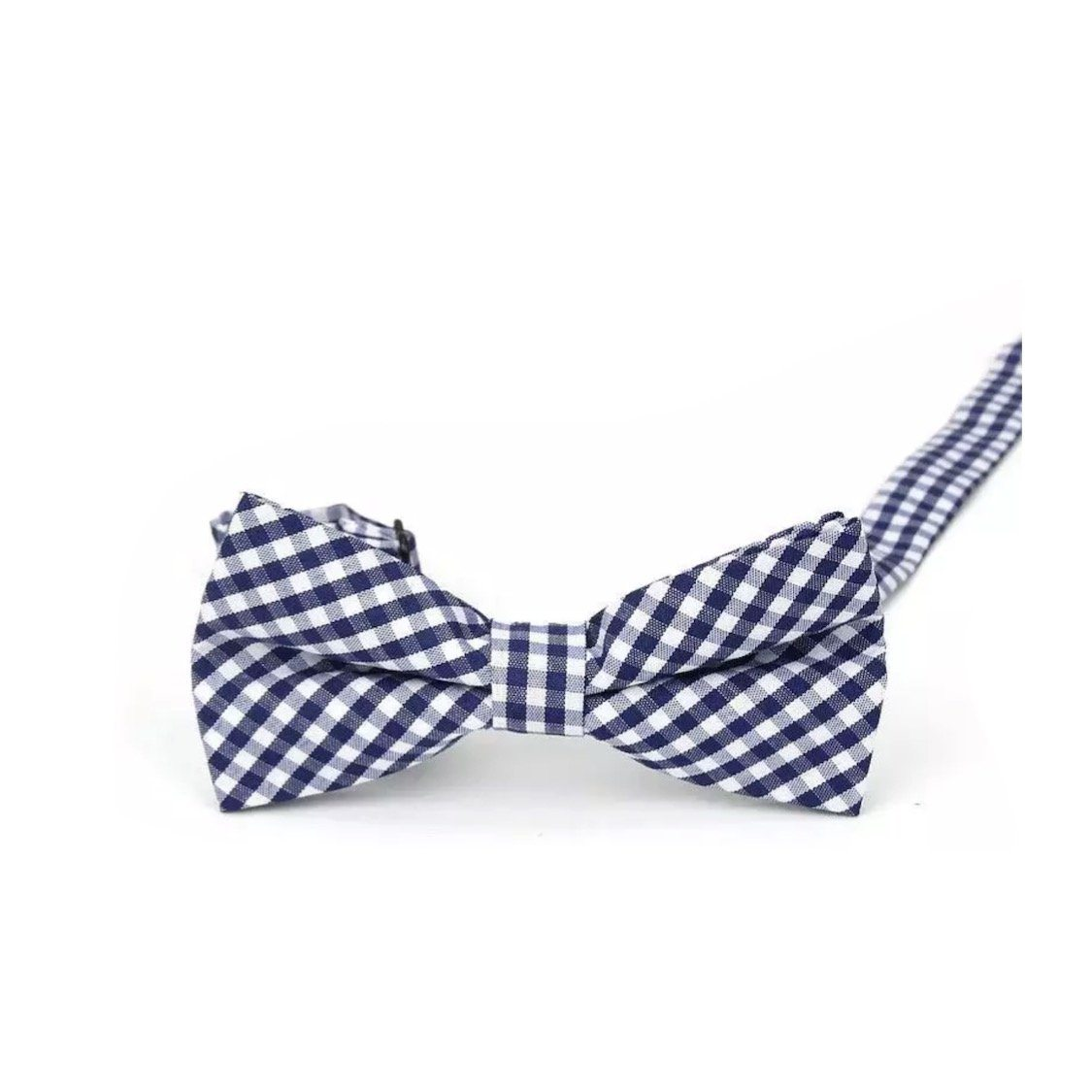 Baby & Kids Blue & White Plaid Bowtie (6 Months - 12 Years) Bowtie Tiny Trendsetter
