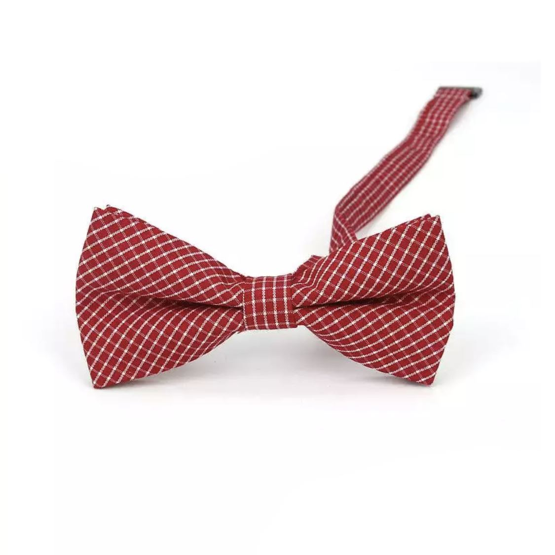 Baby & Kids Red & White Bowtie (6 Months - 12 Years) Bowtie Tiny Trendsetter
