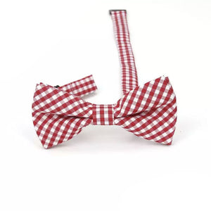 Baby & Kids Red & White Plaid Bowtie (6 Months - 12 Years) Bowtie Tiny Trendsetter