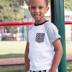 BBS9TS2313WT - Art & Eden Boys Organic Cotton Caleb T-Shirt - White Short Sleeve Shirts Art & Eden