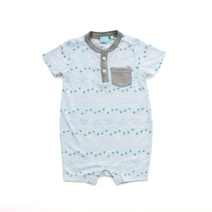 Bear Camp - Aqua Haze Justin Baby Romper Romper Bear Camp