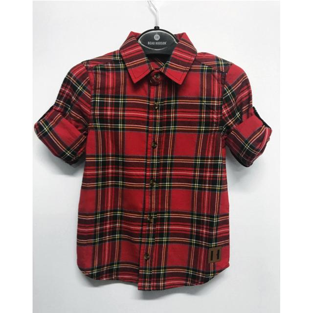 Beau Hudson - Red Tartan Shirt Long Sleeve Shirts Beau Hudson