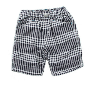 Bitz Kids - Baby & Boys Gauze Plaid Shorts - Charcoal Shorts BItz Kids