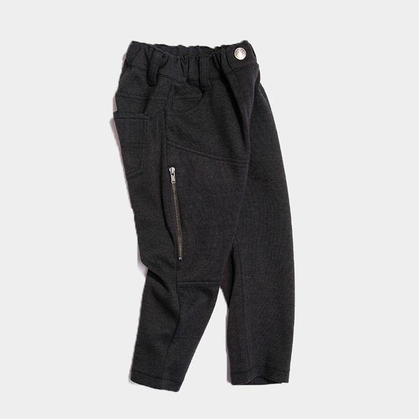 Bitz Kids - Black Knit Twill Slim Pants Pants BItz Kids
