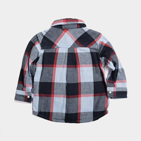 Bitz Kids - Black Reversible Plaid Long Sleeve Shirt Long Sleeve Shirt BItz Kids