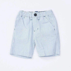Bitz Kids - Boys Seersucker Stripe Shorts - Blue Shorts BItz Kids