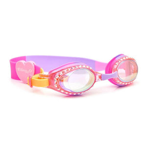 Bling2O - Classic Edition Swim Goggles - Straw-Blue Berry Swim Goggles Bling2O