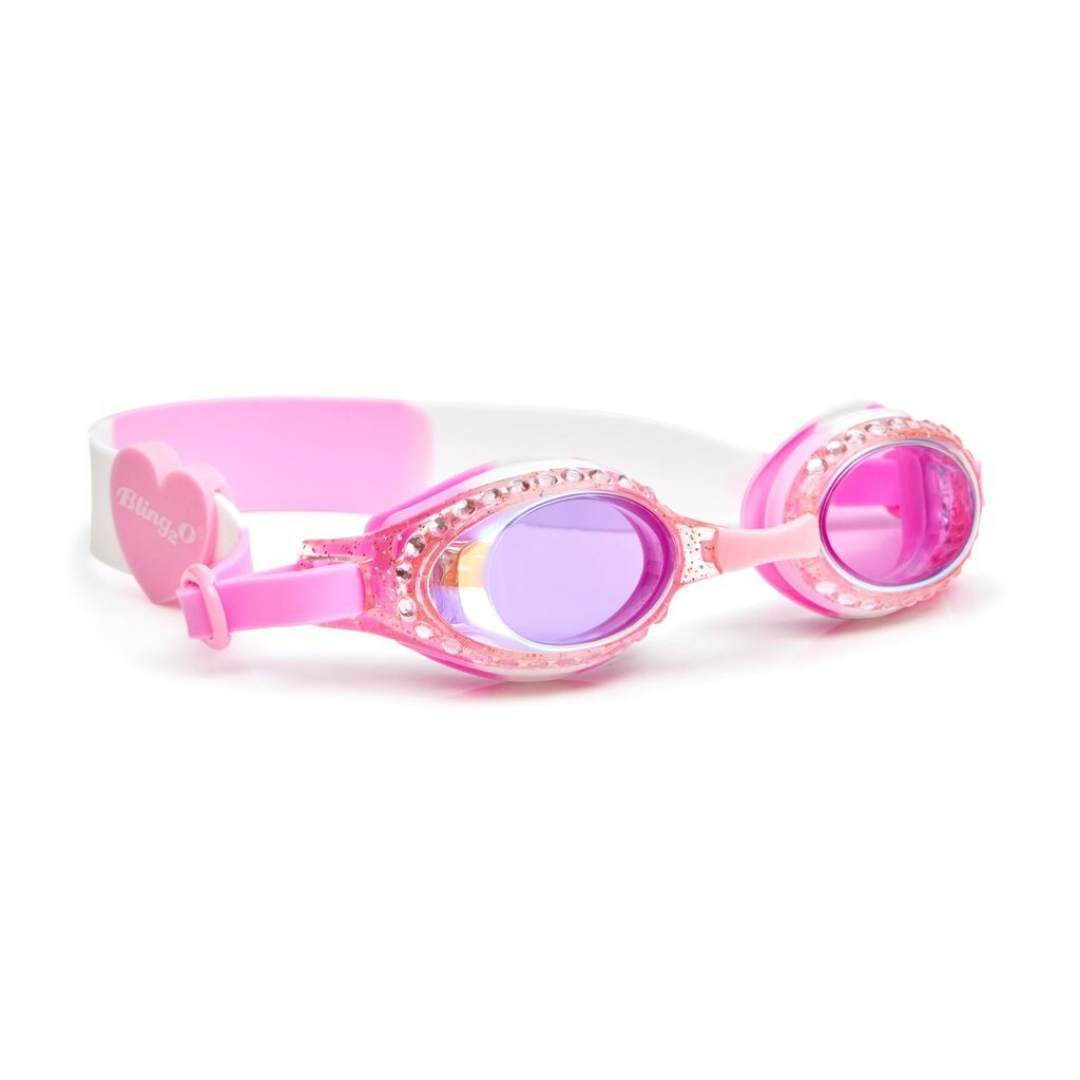 Bling2O - Classic Edition Swim Goggles - White Cherry Blossom Swim Goggles Bling2O