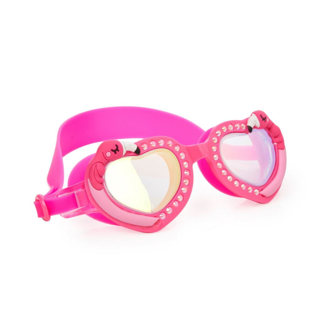 Bling2O - Heart Goggles - Flock of Fab Flamingo Swim Goggles Bling2O