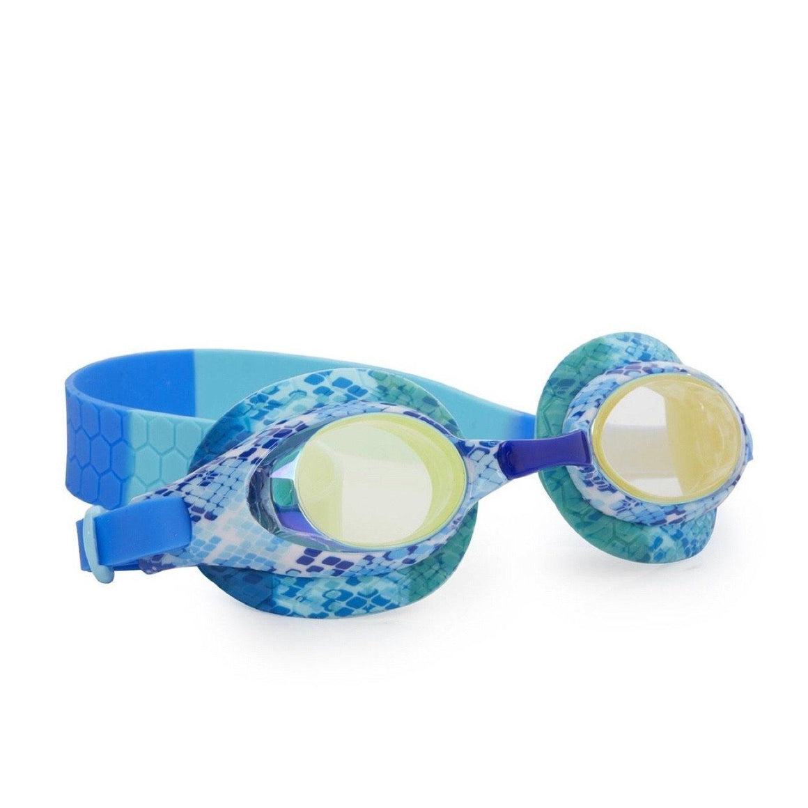 Bling2O - Jake the Snake Swim Goggles - Boa Blue Swim Goggles Bling2O