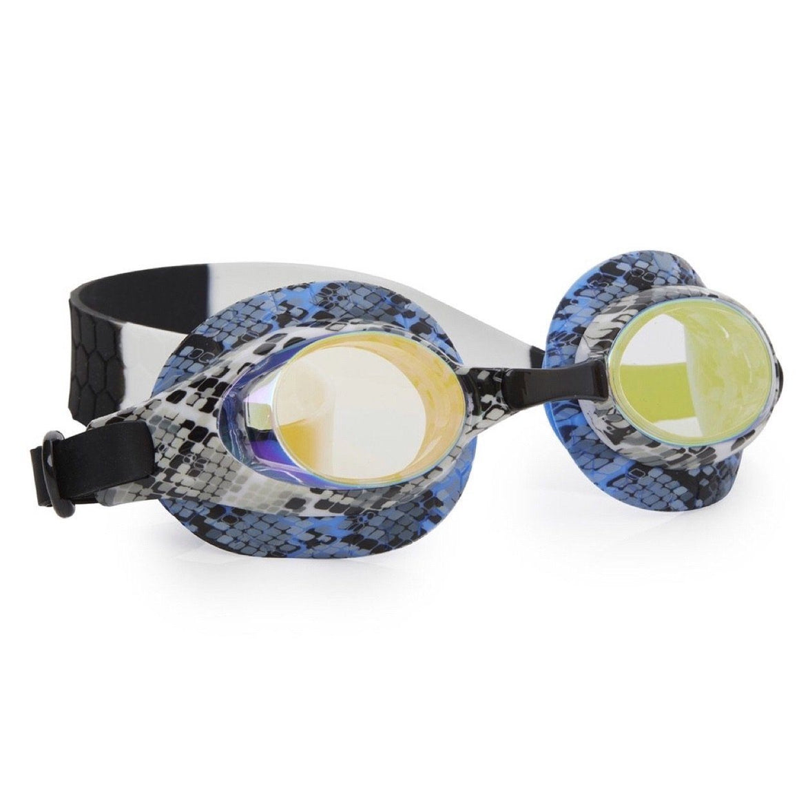 Bling2O - Jake the Snake Swim Goggles - White Snake Swim Goggles Bling2O